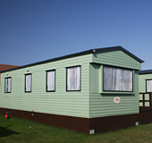 A one-star caravan at Pettycur Bay Holiday Park