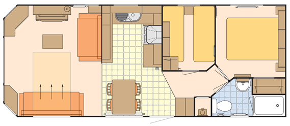 3 Star Caravan Floor Plan