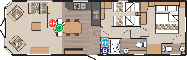5 star caravan Floor Plan